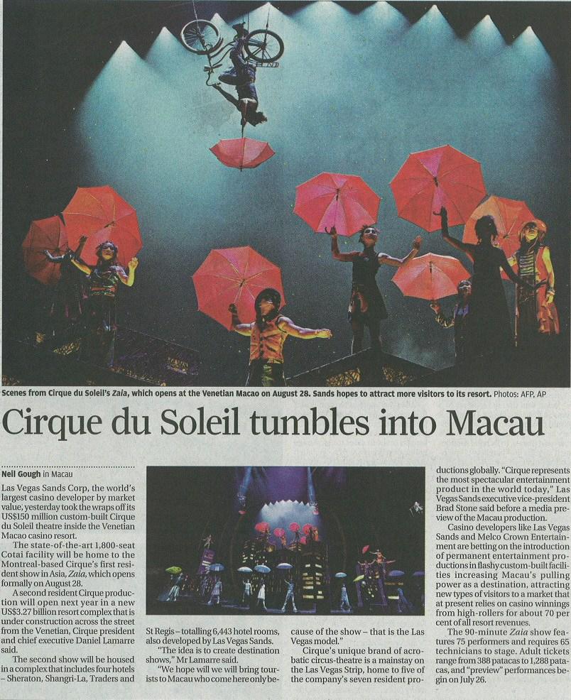 lionel hun cirque du soleil