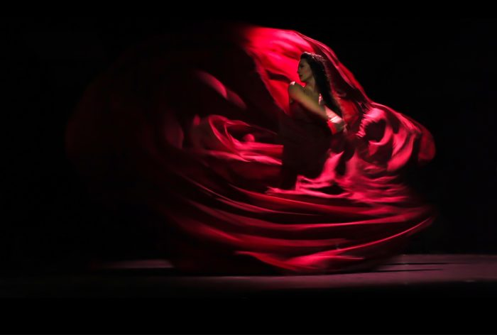 dancer red dress lionel hun choreography wine dress